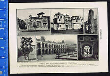 Ancient & Vintage Architecture in Guatemala - Antigua  - 1932 Historical Print