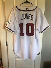 Authentic Atlanta Braves Chipper Jones Russell Athletic Baseball Jersey Mens L