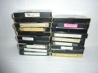 Lot Of 14 Pre-Recorded VHS Video Cassettes VCR Tapes Vintage