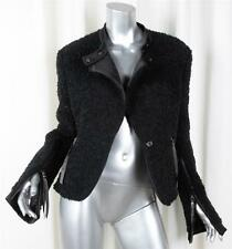 VIKTOR & ROLF Womens Black Wool Blend Boucle Textured Coat Jacket 48/12 L