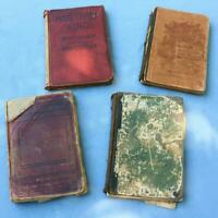 Mixed Lot Antiquarian Old Estate Religious Song Music Hymn Books Bag1 AW