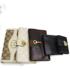 Gucci Vintage Gucci Gucci Long Wallet Wallet 5Pieces set 100539