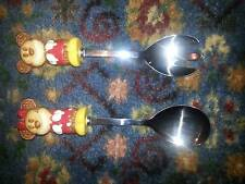 MICKEY AND MINNIE MOUSE DISNEY SPOON AND FORK SALAD SERVERS