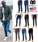 Mens Slim Fit Jeans Super Stretch Denim Pants Slim Skinny Casual Denim Jeans