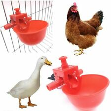 5 PCS Red Duck Drinker Bowl Automatic Feeder Coop Feed Chicken Water Cup