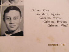 Gus Grissom As Freshman in 1941 Yearbook Mitchell High School IN NASA Astronaut