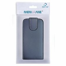 Membrane Black Leather Flip Case for Samsung i9500 Galaxy S4 Phone Guard Cover