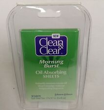 Clean & Clear Morning Burst Oil Absorbing Sheets 50 ct ( Pack of Six )