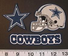 Dallas Cowboys NFL Team Fabric Iron On Appliques Patch NO SEW Shirt Logo 3pc