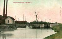 "Antique Postcard  DELPHOS Ohio  ""STONE LOCK ON CANAL"""