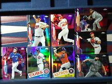 Mike Trout 2020 Topps Chrome #1 Prism Pink Refractor Kris Bryant Altuve LOT X 8