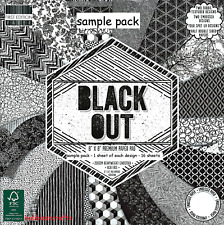 DOVECRAFT BLACKOUT PAPERS 8 X 8 SAMPLE PACK - 16 SHEETS - POSTAGE DEAL
