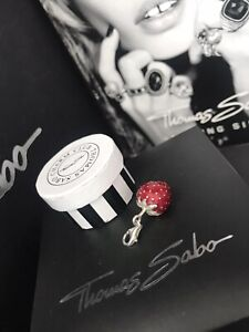 Genuine Thomas Sabo 'Strawberry' Pendant Charm RRP£60 Rare Retired W/Box