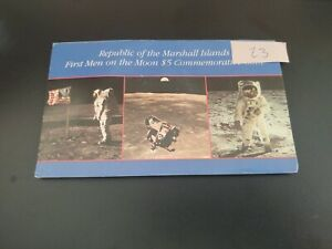 Republic of Marshall Islands First Men on Moon $5 Commemorative Uncirculated -23