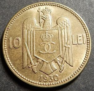 Romania 10 Lei 1930 Royal Mint London Top grade Rare!