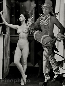 1950's Vintage Print CARNIVAL FEMALE NUDE Circus Photo Litho Art By ZOLTAN GLASS