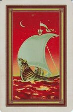 "K38 genuine ART DECO swap playing card USNN ""Sailing"" ship boat on ocean"