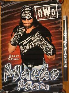 VINTAGE BLUE MACHO MAN RANDY SAVAGE POSTER 1996 WRESTLING WCW NWO WWE WWF