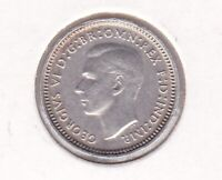 CB576) Australia 1942 Melbourne 3d, almost uncirculated. Rare coin with lustre