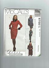 McCALLs pattern 6700 dress jacket skirt suit belt SZ 10 12 14 unused ff uncut