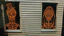 Sugar Skull Large Window Decoration Day of the Dead NEW
