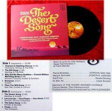 LP The Desert Song Gordon MacRae Dorothy Kirsten Van Al