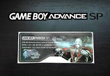 Etiquette Sticker Arrière Castlevania Harmony of Dissonance Game Boy Advance SP