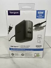 Targus APA104BT 60W USB Type C A Laptop Wall Charger Black Portable 4X Faster