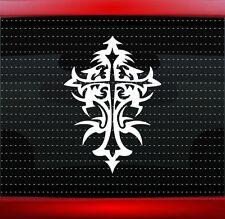 Cross #12 Christian Car Decal Truck Window Vinyl Sticker Tribal (20 COLORS!)
