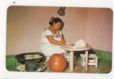 Yucatecan Woman Making Corn Tortillas Yucatan Mexico Postcard 774a