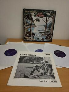 J.R.R. TOLKIEN - The Hobbit - 4 x Vinyl LP Box Set & Booklet - UK Argo 1974
