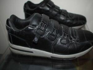 ROYAL ELASTICS Black Leather Strap Closure Fashion SNEAKERS Mens 9 Vintage Style