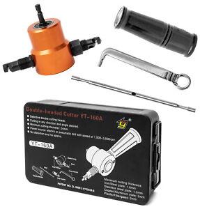 Saxton 5pcs Double Head Cutter Sheet Metal Nibbler Cutter Power Drill Attachment