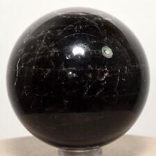 "2"" Black Smoky Quartz Sphere Polished Natural Morion Rainbow Crystal Ball China"