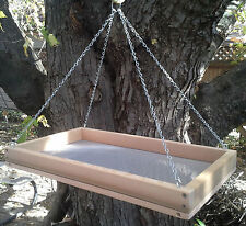 "X-Large 20"" Cedar Platform Screen Bird Feeder w/ Chains"