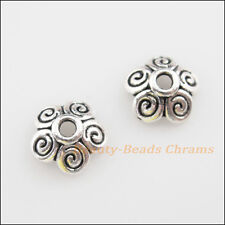 25Pcs Tibetan Silver Tone Tiny Star Flower End Bead Caps Craft DIY 10mm