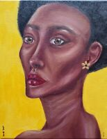 Original Oil Painting, Portrait On A 8x10 Inch Canvas. Sold By Artist