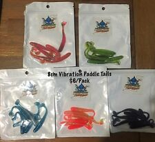 New 8cm Killer Crank Vibration Paddle Tail Soft Plastic Fishing Lure Packs X 5