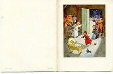 Antique Rare Ida Bohatta: Nativity: CRECH FARM CHILDREN: Greeting Card 6463