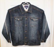 Source Jeans Mens Denim Blue Jean Jacket Sz 3XL Urban HipHop Prison Trucker Coat