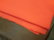 Flourescent Orange Fabric Material, Approx 154cm wide x 142cm long