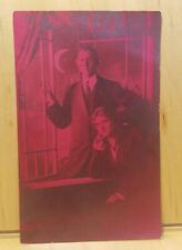 A13) Postcard 1914 MOON and STARS Red Tint PERLE'S STUDIO St Louis Romantic