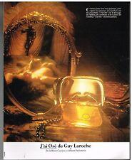 Publicité Advertising 1980 Parfum J'ai Osé de Guy laroche