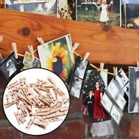 50 Stück DIY Decking Mini Holz Kleidung Fotopapier Peg Wäscheklammer