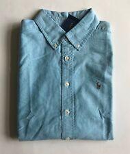 $50 NWT Boys Polo Ralph Lauren Blue Long Sleeve Button Down Shirt Oxford L 14-16