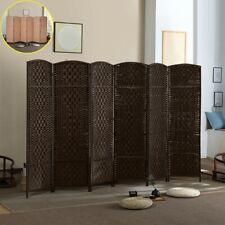 New Listing6 Panel Room divider W/ Shelves Weave Fiber Folding Privacy Screen 2 Color