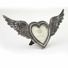 Alchemy Open Wings Heart Antique Finish Gothic Photo Frame