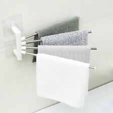 Bathroom 4 Bar Stainless Steel Towel Rack Holder