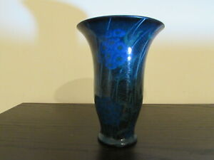 ROOKWOOD POTTERY BLUE FLORAL VASE 1923 BY SARA SAX