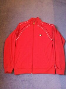 Mens Red Fila Tracksuit Top Size L- Very Good condition. Rarely worn.